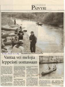 Vuoden 1996 läpimelonta Hyvinkään Sanomissa